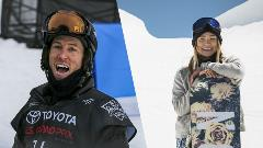 Image of chloe kim and shawn white