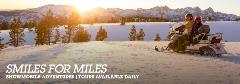 Smiles for miles. Snowmobile adventures. Tours available daily.