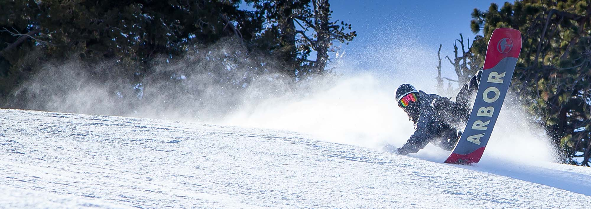 Snowboarder at Big Bear Mountain Resort