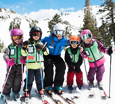 Ski & Snowboard Lessons for Ages 3+