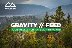 gravity feed, mountain biking