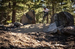 mountain biker on new Blue Steel trail