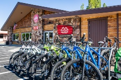front of the BBMR visitors center with bikes lined up