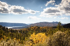 mountain view, fall colors, big bear lake