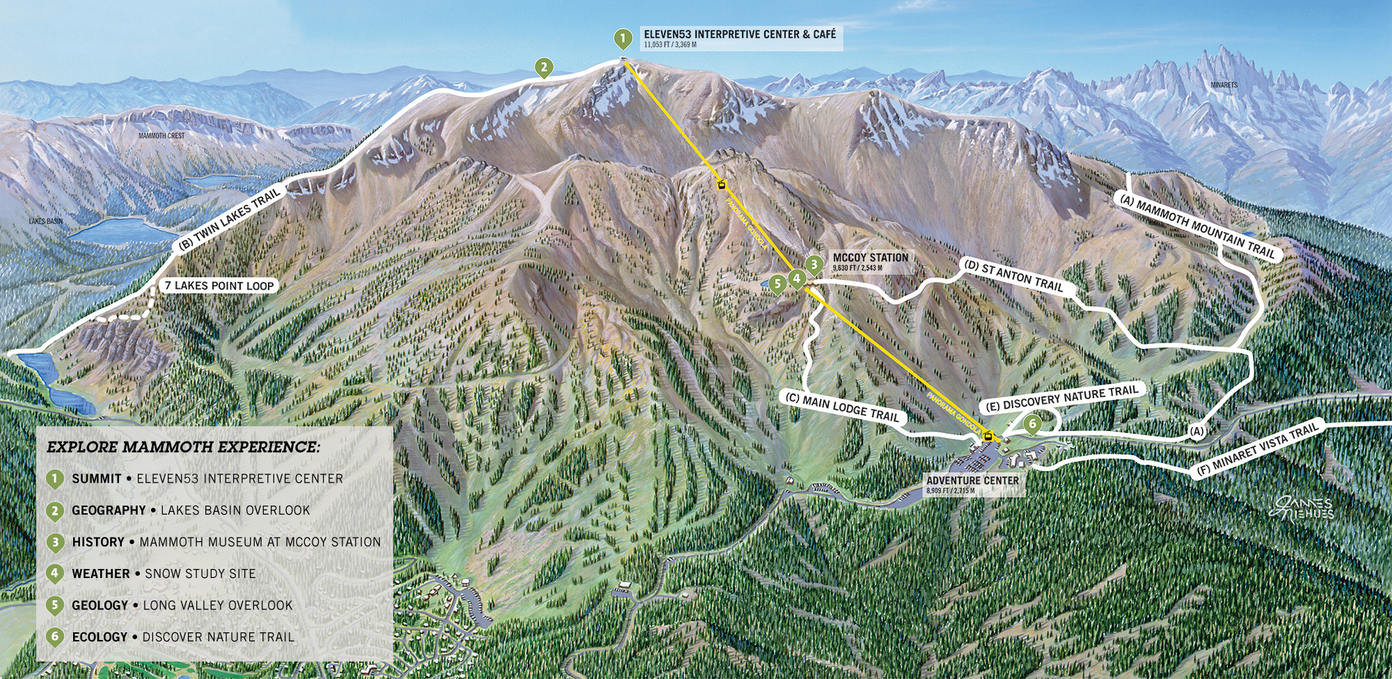 explore mammoth map. summer  mammoth mountain ski resort map  offical