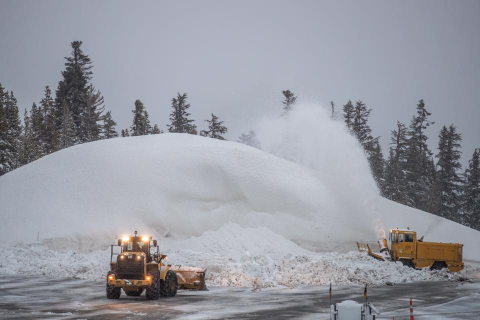 Mammoth Snowblowers at Work