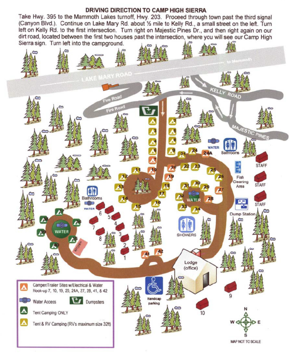 Camp High Sierra_Site Map