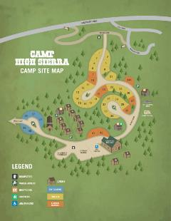 Camp High Sierra Camp Site Map