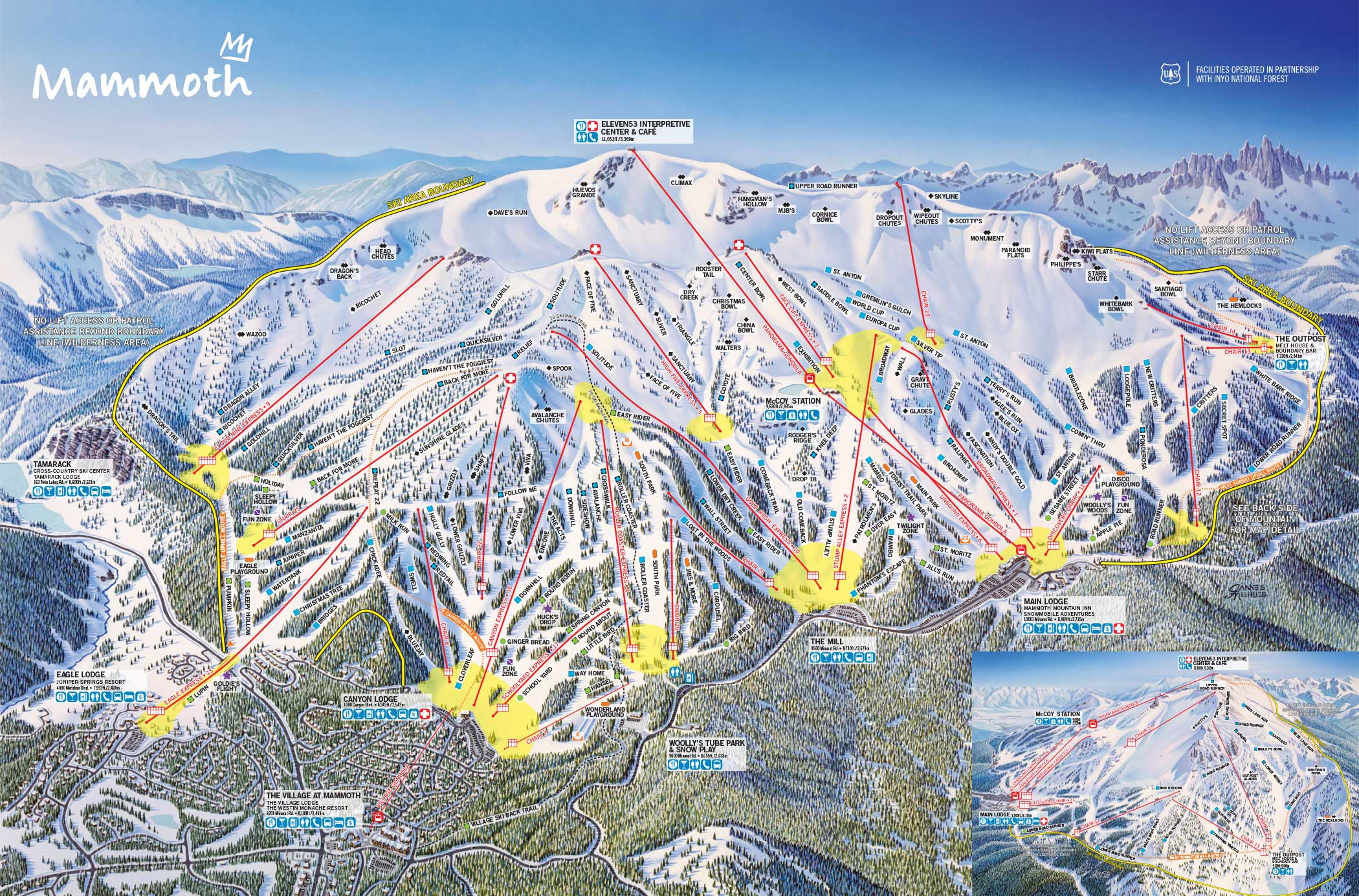 Mammoth Mountain Ski Area Trail Map | Official Site