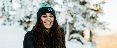Woman Wearing the Mammoth Beanie