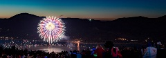 firework show over big bear lake