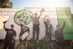 men on a podium with awards at crafts n cranks 2019