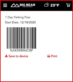 barcode for a parking pass