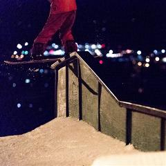 Night session at snow summit guy doing a trick