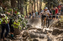 downill race at Fox US Open of MTB