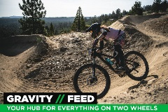 Guy riding a mountain bike