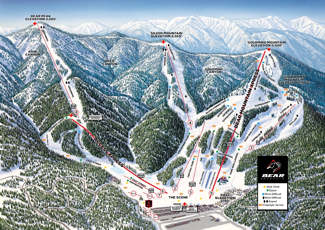 Bear Mountain Map Trail Maps | Bear Mountain & Snow Summit | Big Bear Mountain Resort