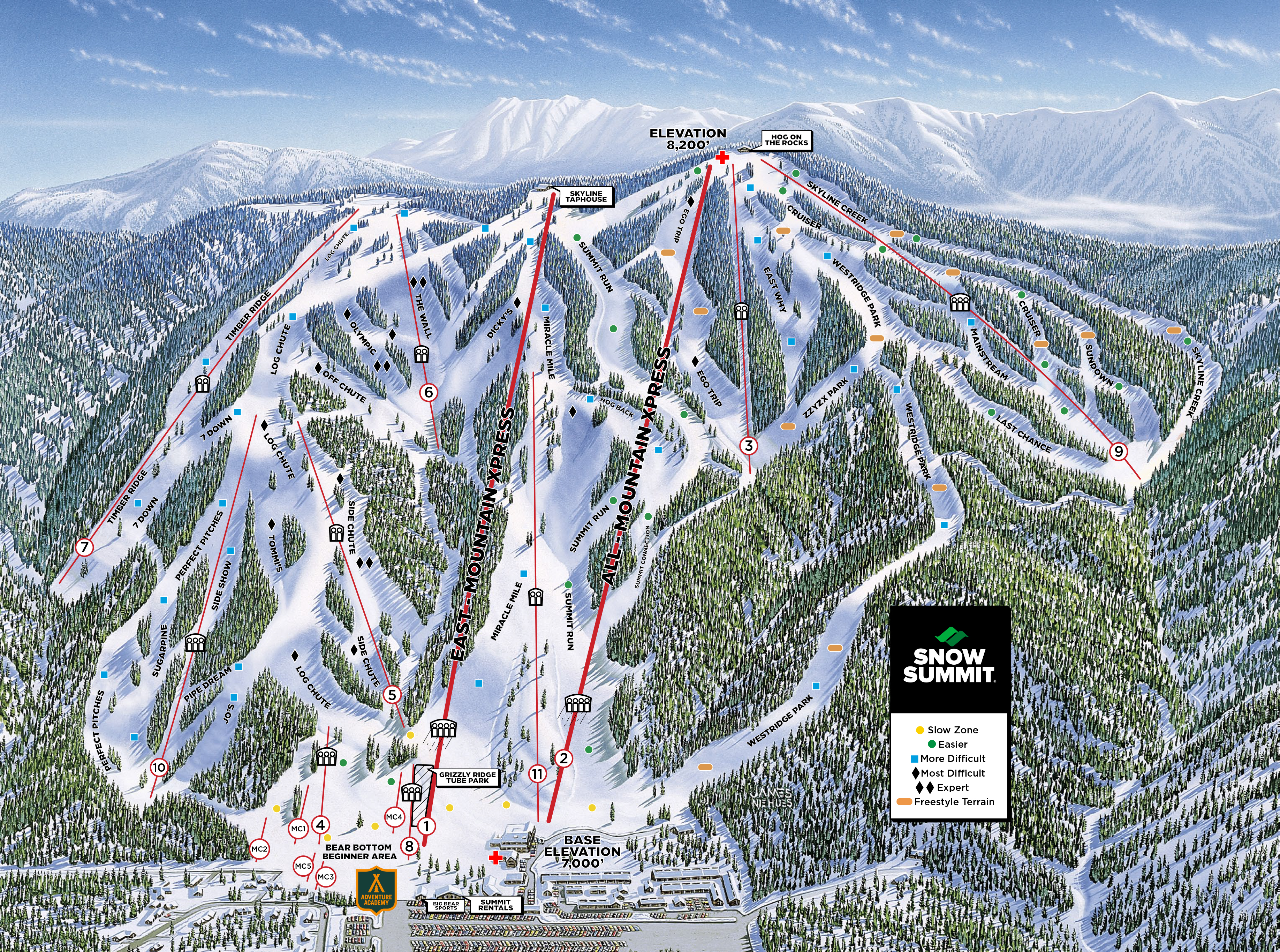 ski resorts: san bernardino mountain ski resorts california (us