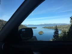 Drive by Emerald Bay State Park for a scenic detour on your road trip.