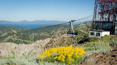 The Aerial Tram docks at 8,200 feet at High Camp in the summer.