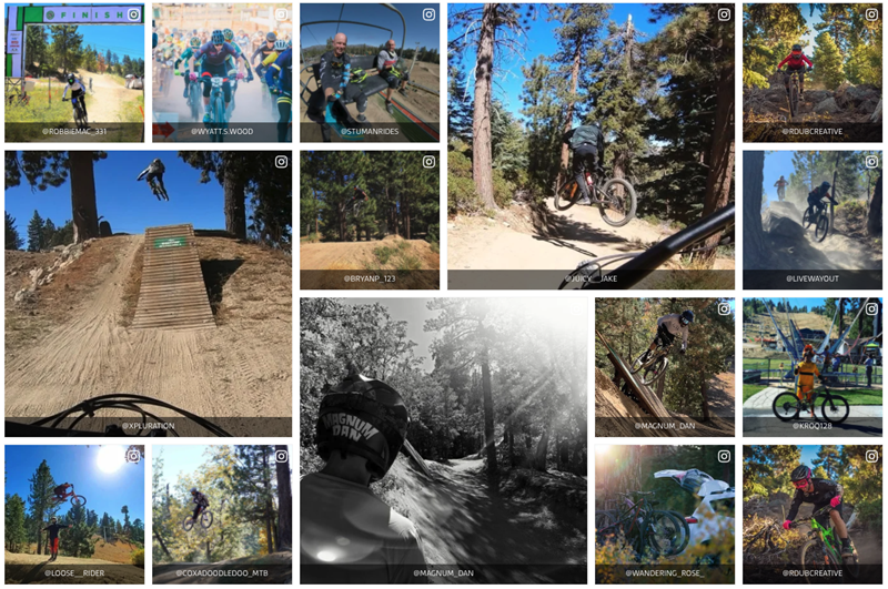 UGC photo content at the summit bike park