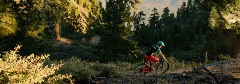 girl cross-country mountain biking