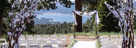 wedding alter on top of the mountain