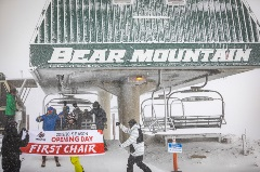 first chair at bear mountain for winter skiing/snowboarding