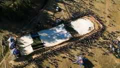 drone view of HDHR 2019 course