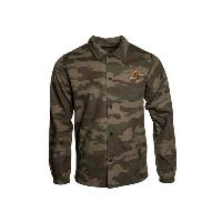 army printed coach's jacket with bear mountain logo