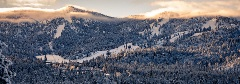 snowy scenic view of big bear mountain resort