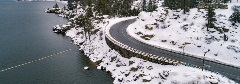 big bear roads covered in snow