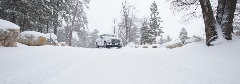 ford truck driving in snow
