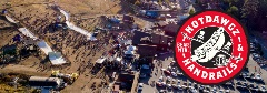 drone view of the hot dawgz & hand rails event